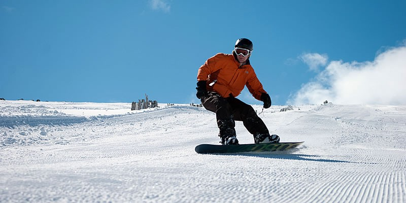 Snowboarding on Cairngorm